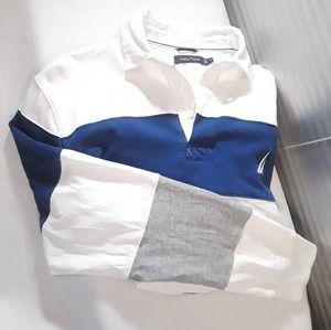 Vtg 90's Nautica Pullover Casual Long Sleeve Shirt